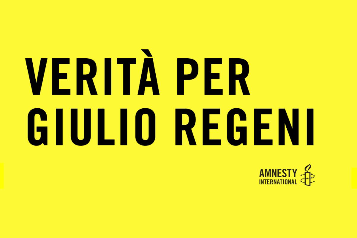 Vertià per Giulio Regeni