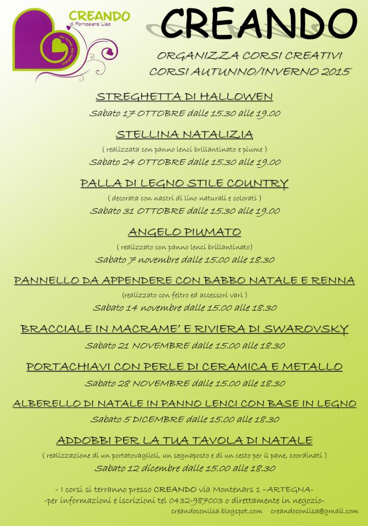 Programma autunno 2015 Web